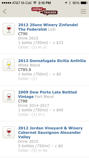 CellarTracker wine-collector app