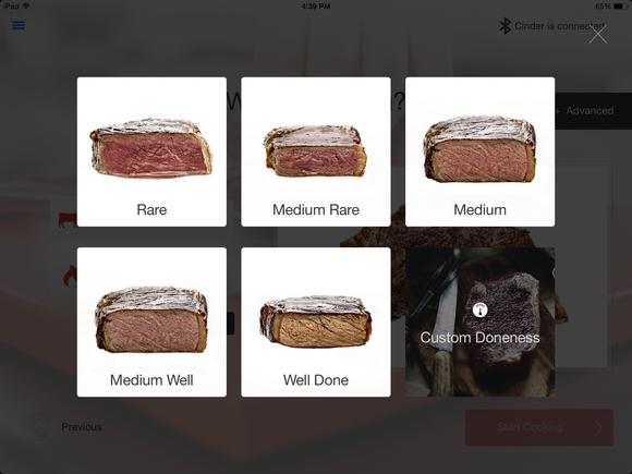 Cinder Sensing Cooker app