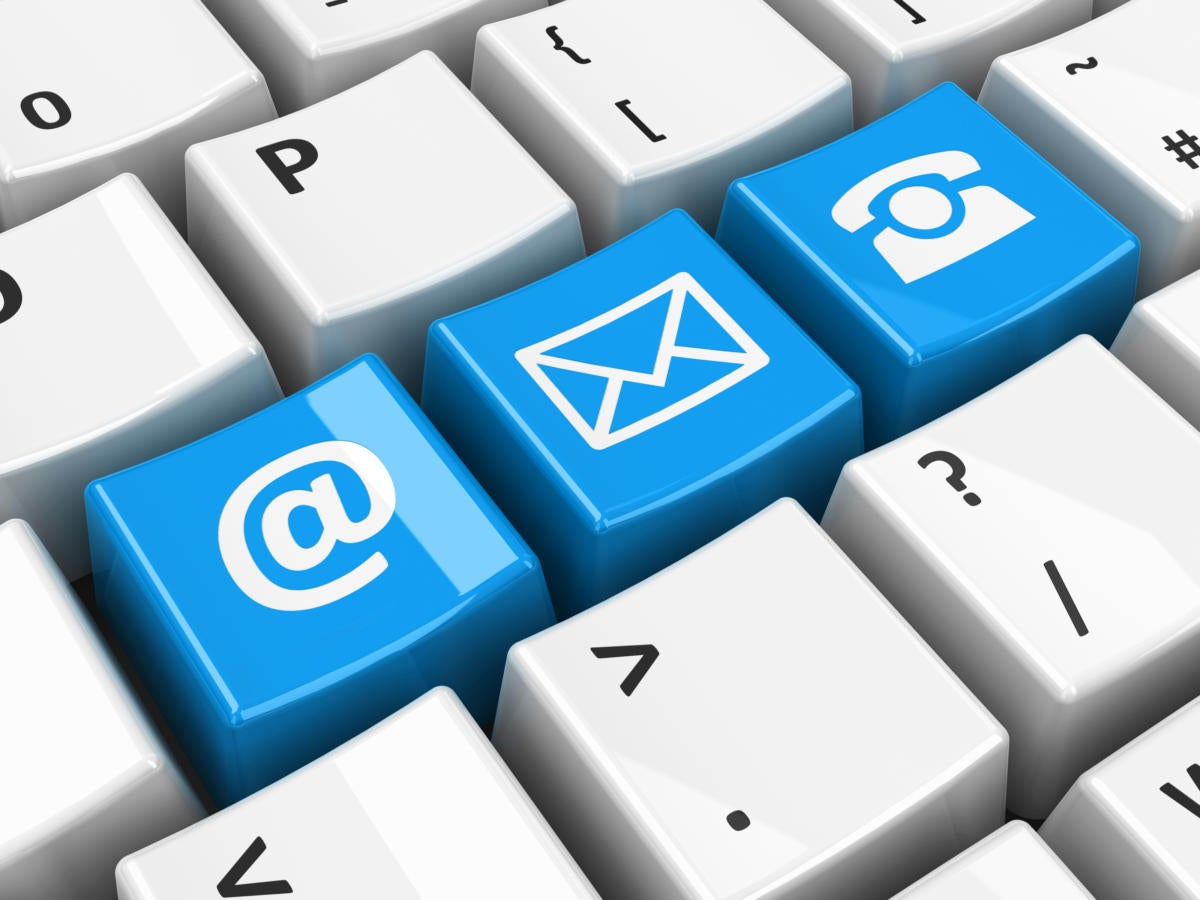 customer support keyboard email phone social networking