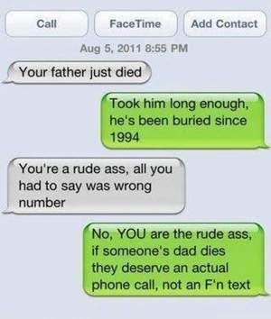 dad died text