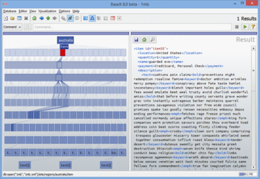 BaseX displaying data in a tree view