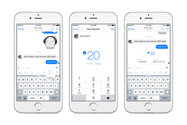 Facebook Messenger payments