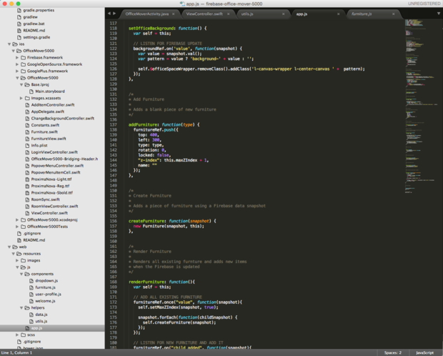 JavaScript code for a Firebase Web app