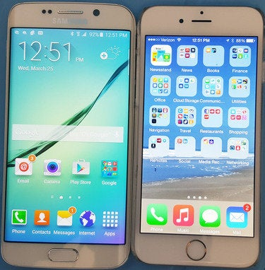 Samsung Galaxy S6 and iPhone 6