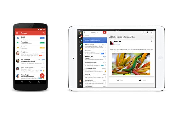 gmail mobile app primary