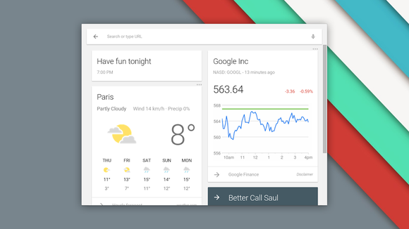 Chrome OS 42 brings Google Now, Material Design to