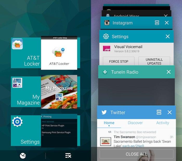 multitasking menu