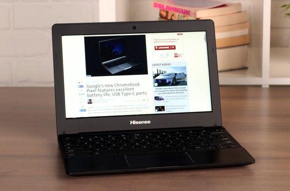 hisense chromebook front