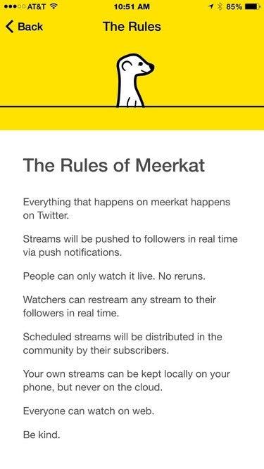Meerkat's rules