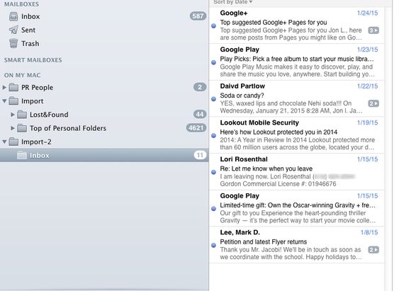 imported email in mac mail2