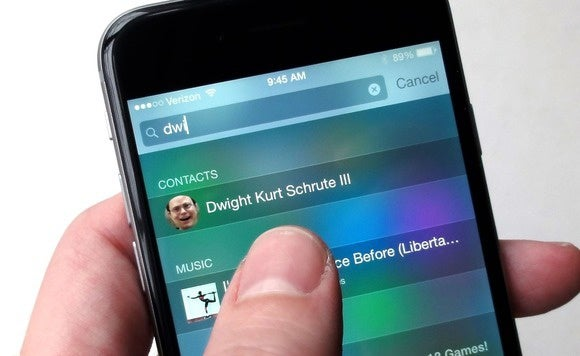 ios spotlight search contact 2