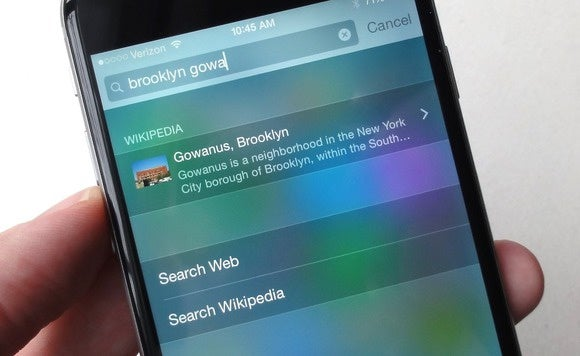 ios spotlight search web search 5