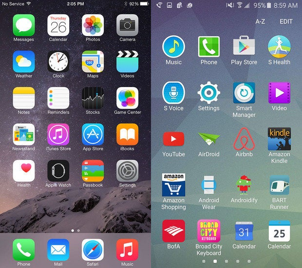 iOS vs. TouchWiz