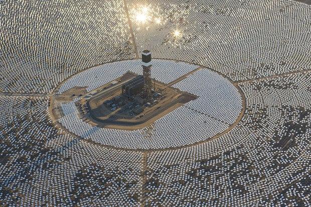 Ivanpah Solar facility in xxx.