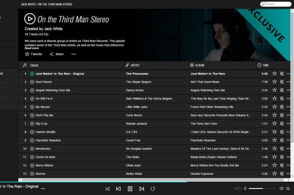 Jack White Tidal playlist