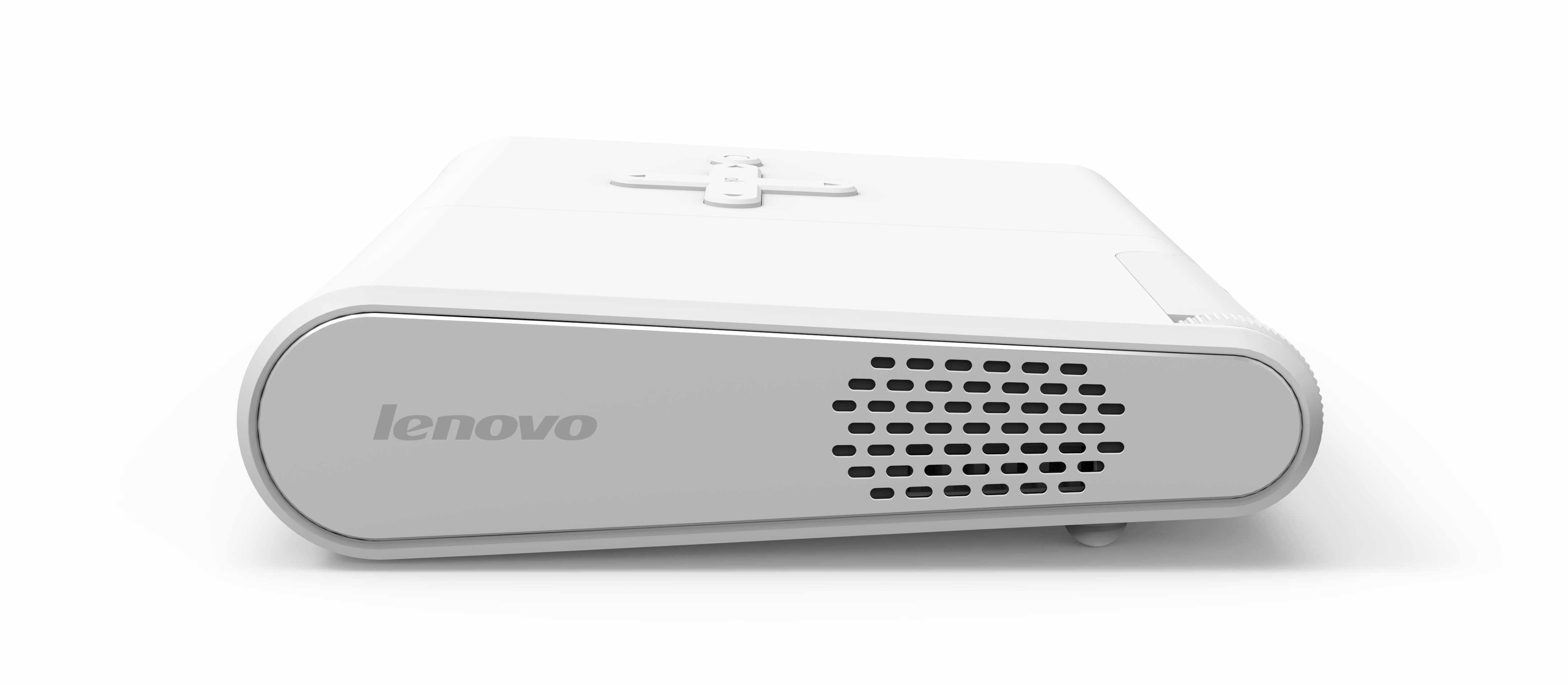 Lenovo 39 s pocket projector pairs with phones for anytime for Small projector for phone