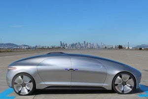mercedes benz f 015 side view