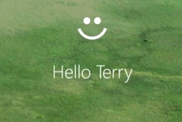 microsoft hello login screen