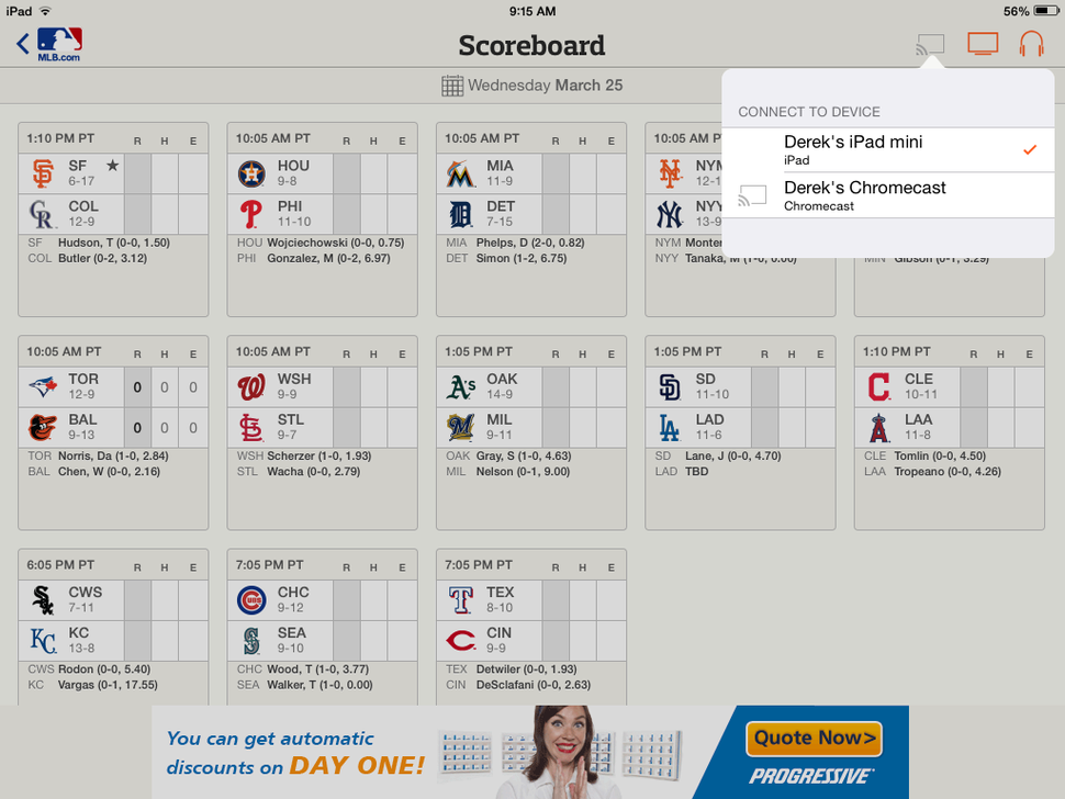 How to stream Major League Baseball games to all your