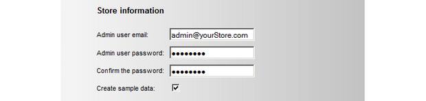 Enter default admin credentials