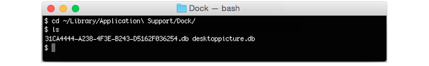Find the Application Support db used by Dock