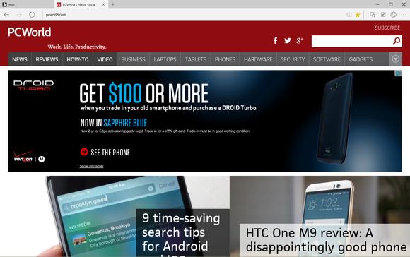 microsoft edge pcworld homepage