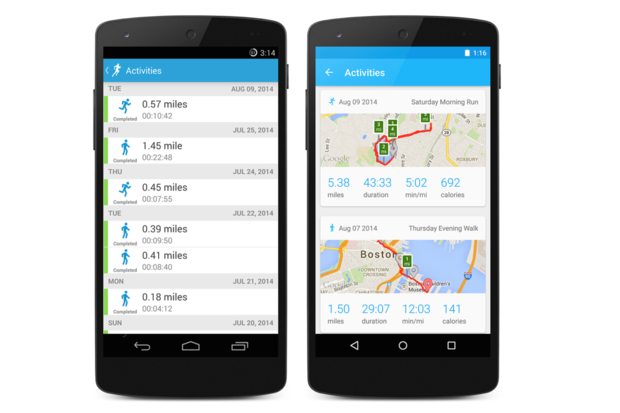 runkeeper android material