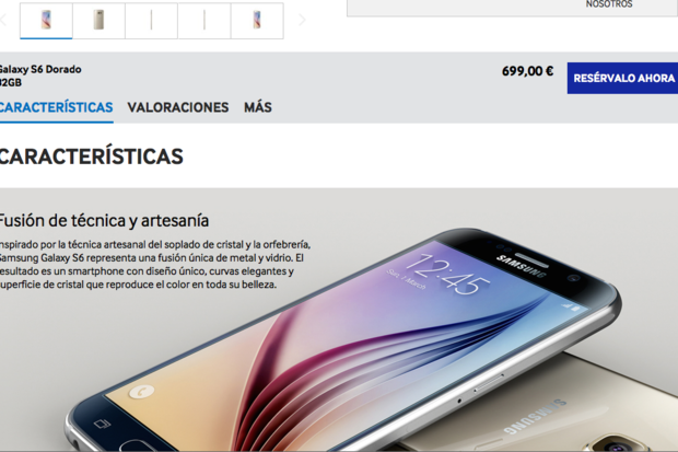 Galaxy S6 pricing slips out: $780 unlocked, at least in Spain | Computerworld