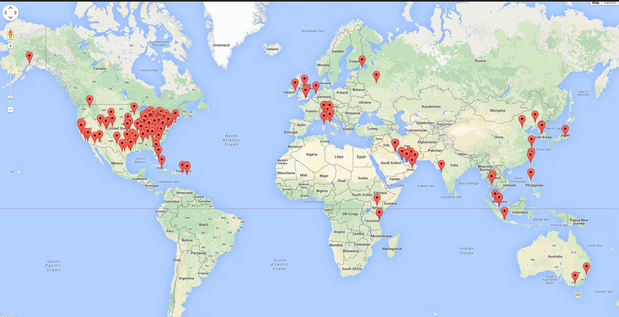 map of hotel routers
