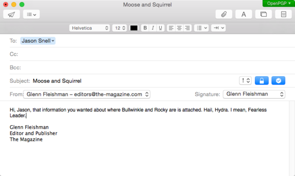 sending email to jason in mail