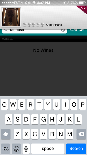 Snooth wine-collector app