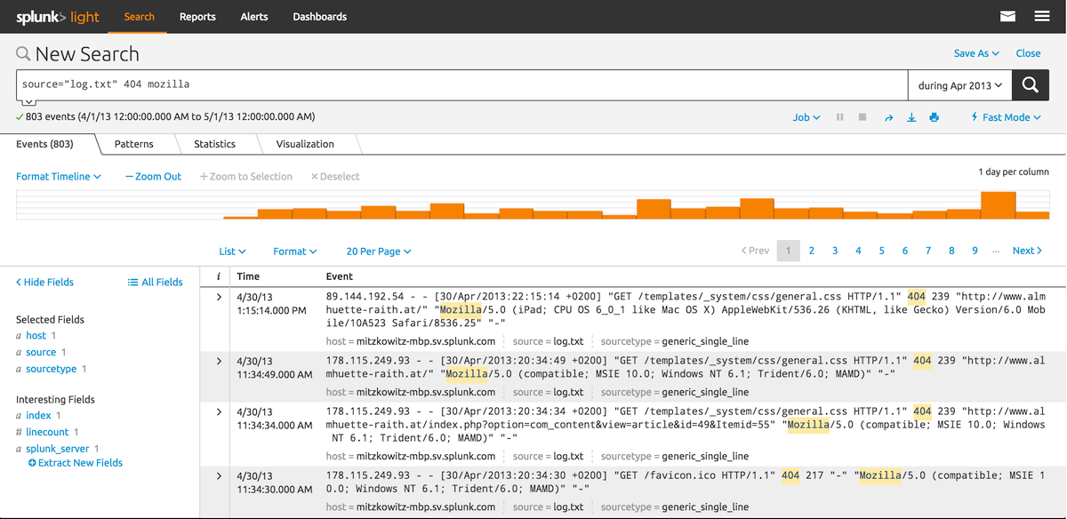 Splunk quick reference sheet