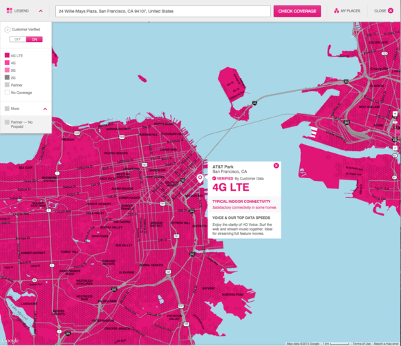 t mobile coverage map