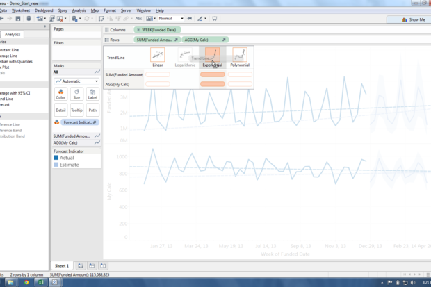Tableau's new drag-and-drop forecasting