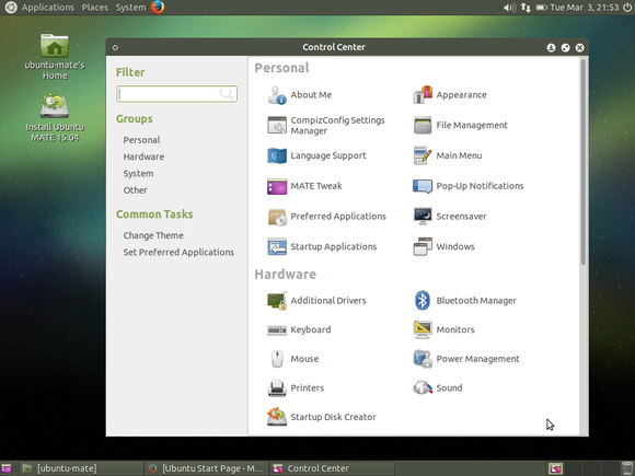 ubuntu mate control center