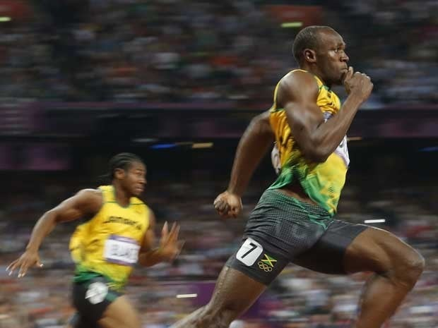 Usain Bolt winning the men's 200m final at the London 2012 Olympic Games