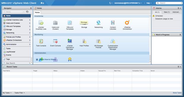 VMware vSphere 6 Web client