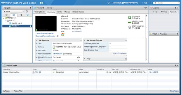 vmware vsphere 6 web client vm overview