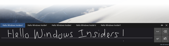 windows 10 10041 handwriting