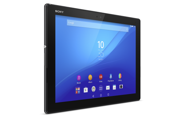 xperia z4 tablet black front slant