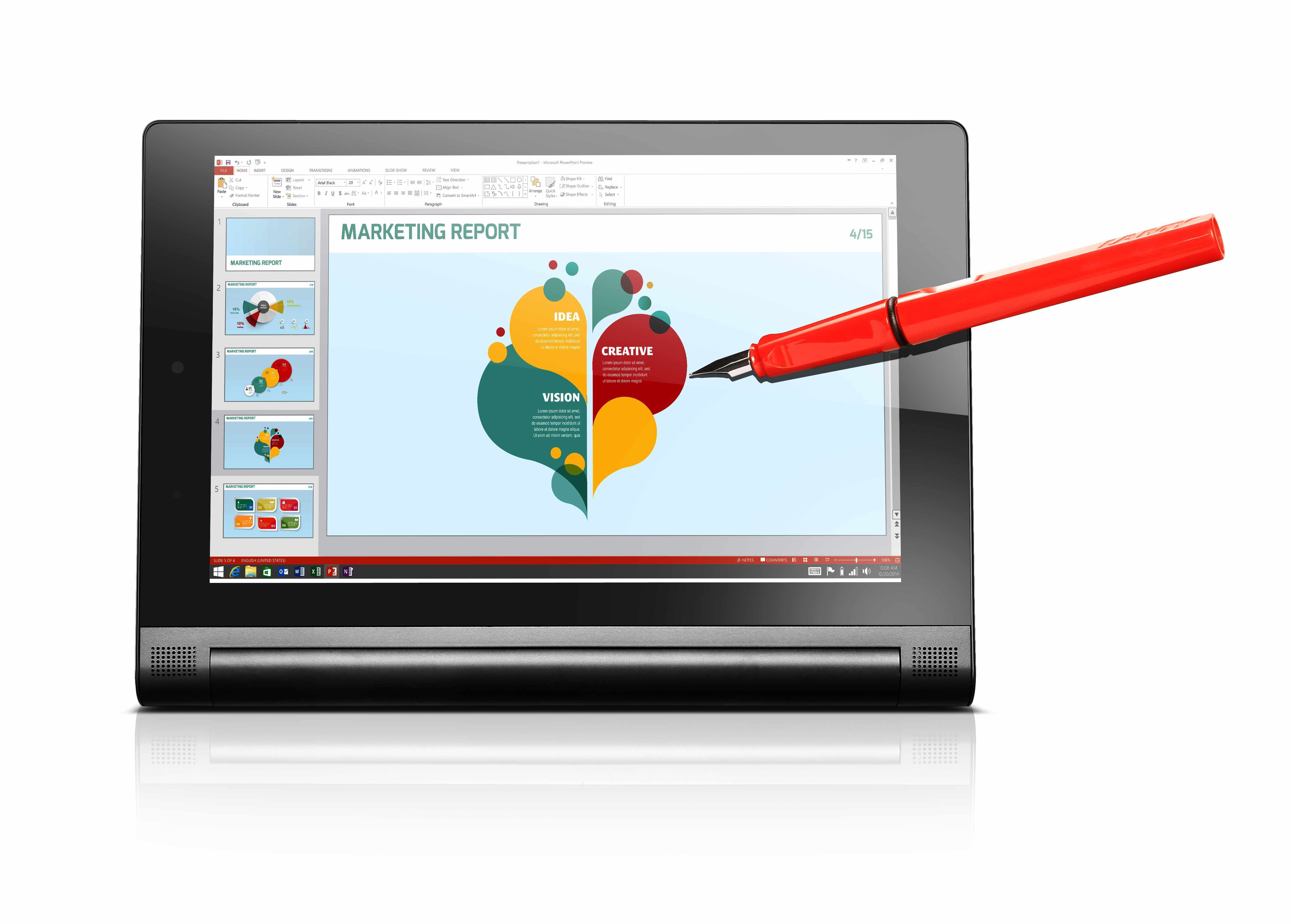 forgot your digital stylus no problem use your pen instead with the yoga tablet 2 anypen