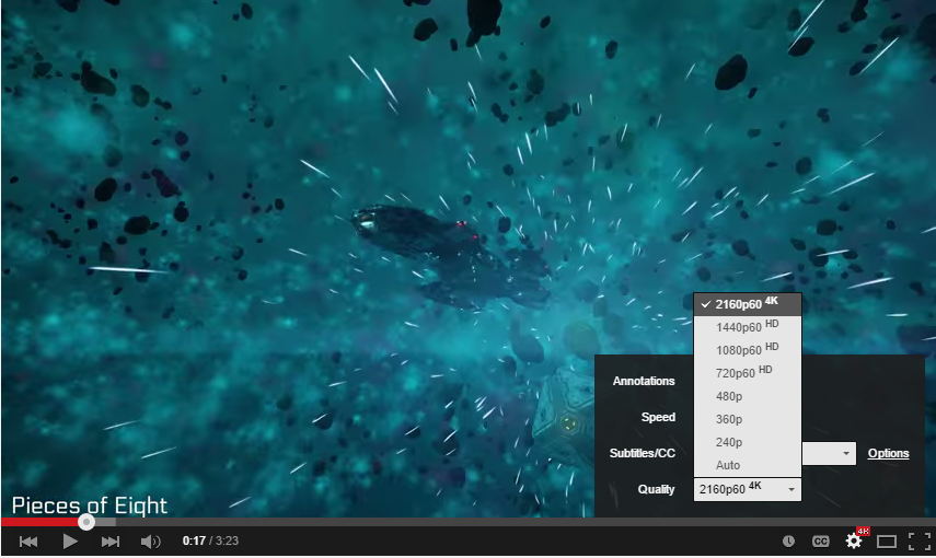 YouTube's experimental 4K, 60 frames per second video will crush
