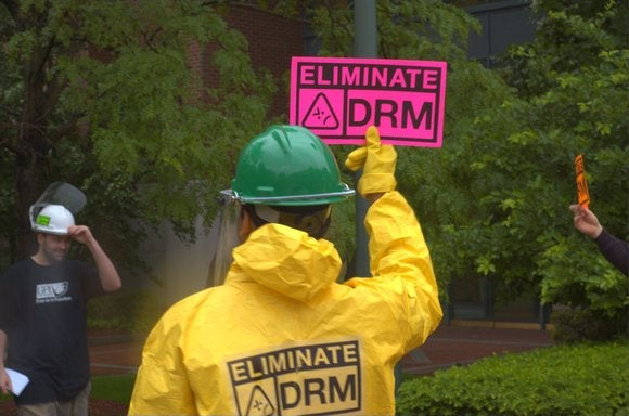 DRM protest