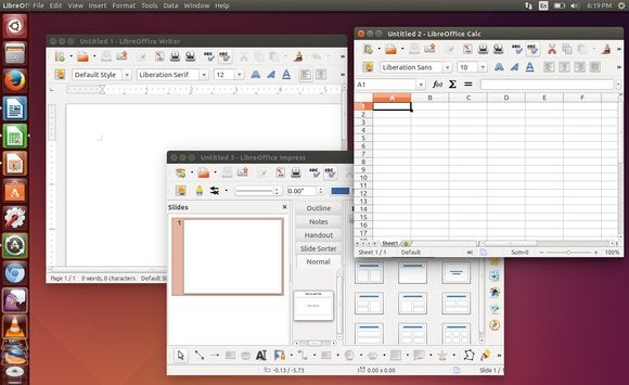 3 libreoffice applications