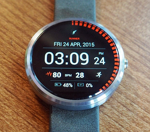 android wear watch faces runner