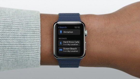 Apple Watch dictate search recents