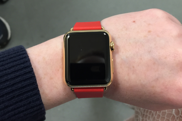 apple watch edition red on wrist