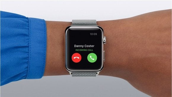 Apple Watch incoming call notification