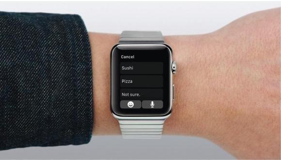 Apple Watch Messages smart replies