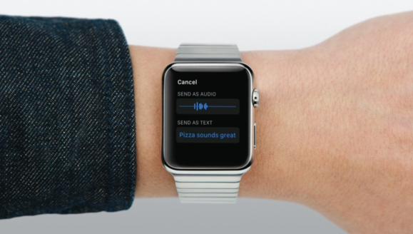 Apple Watch Messages audio or text